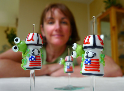 Glass frog beads heading into space
