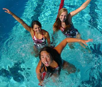 Palos Verdes High School girls swimmers