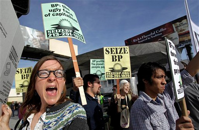 Protests Over Gulf Oil Spill