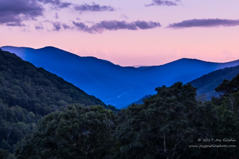 Smoky Mountain Sunset- Near Maggie Valley, NC