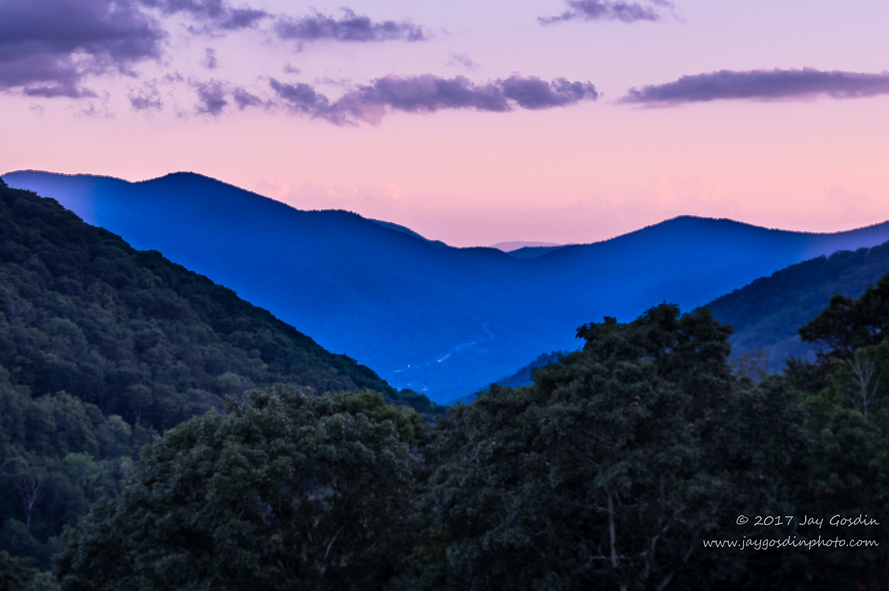 Smoky Mountain Sunset- Near Maggie Valley, NC