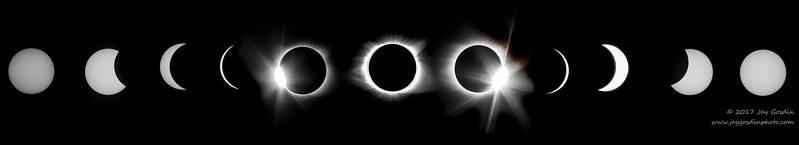 Composite of the Total Eclipse of the Sun August 21, 2017 near Murphy, North Carolina