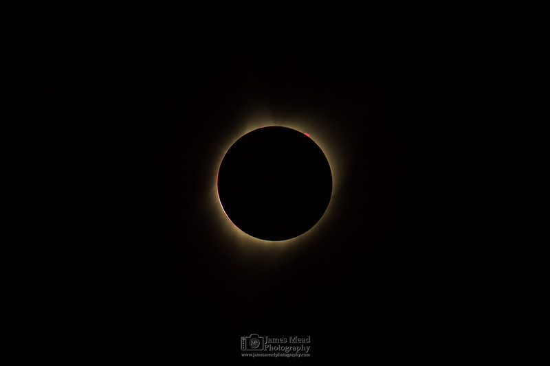 The End of 2nd Contact, Total Solar Eclipse, Oregon, United States