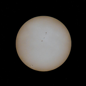 Before the eclipse: the normal sun with sunspots