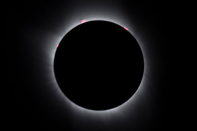 Total Solar Eclipse with Flares