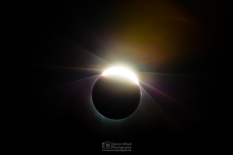 """Let There Be Light,"" the end of totality, Total Solar Eclipse, Oregon, United States"