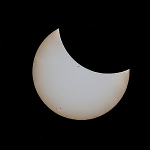 Partial phase of the solar eclipse