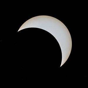 Partial phase of the eclipse shortly after totality