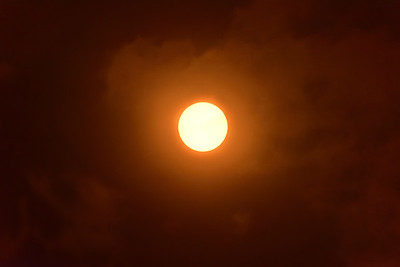 Pre-Eclipse Sun viewed through slight haze