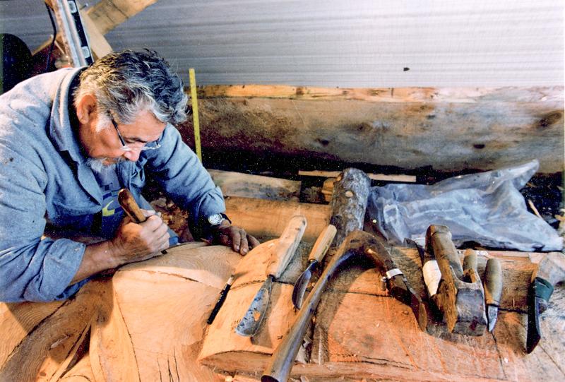 Stan Marsden carving Healing Heart Pole