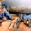 Stan Marsden carving Healing Heart Pole