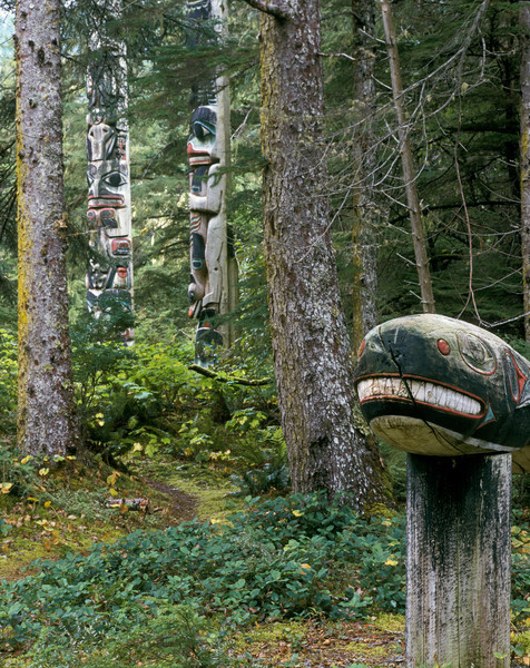Whale Totem Figure at Kasaan, AK