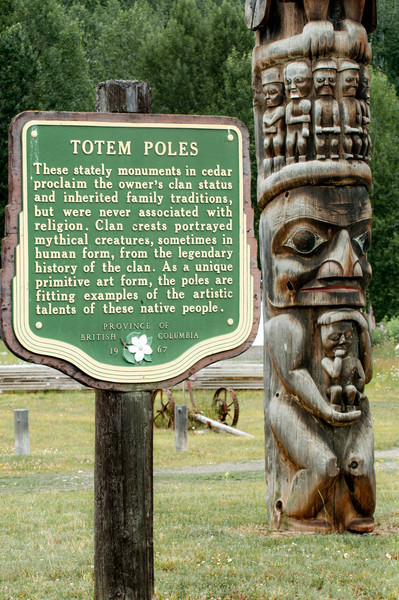 Gitanyow (formerly known as Kitwancool) is a small First Nations village of Gitxsan people located on the Kitwanga River in Northern British Columbia.  According to the British Columbia Travel website it contains the largest collection of totem poles in British Columbia.