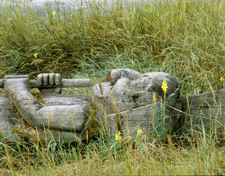 Sleeping Totem in Kitwanga