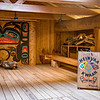 Inside longhouse, Klawock