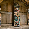 House posts inside longhouse in Kassan (Prince of Wales Island), AK