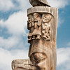 Totem pole located in Gitanyow (formerly known as Kitwancool), BC