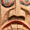 Totem figure at Potlach Park near Ketchikan.
