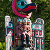 Sun and Raven pole, Saxman Village