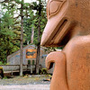 Mink Totem Figure in Klawock,  AK  on Prince of Wales Island.