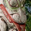 Totem pole located in Prince Rupert, BC.