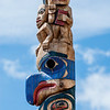 Top of Tsimshian pole by David Boxley at Ketchikan Indian Community Center.