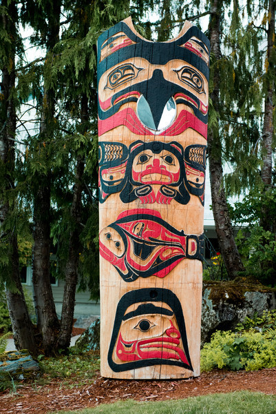 Council of the clans by Lee Wallace, Cape Fox, Ketchikan
