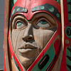 Donny Barnell totem at Indian Cultural Center (Haida)