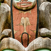 Lower portion of pole carved by Tlingit Tommy Joseph in 1999 to commemorate Chief K'aylaan, leader of the  Tlingits, in the Tlingit/Russian battle in 1804.  The pole is located on the site of the Tlingit fort.