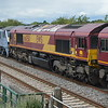 66050 in consist of 0D44 Bescot - Toton passes Clay Mills Junc