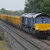 66433 passes Clay Mills Junc on 6U77 Mountsorrell - Crewe BH