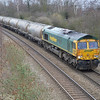 66618 heads into Toton from the south with 6M90 West Thurrock - Tunstead
