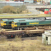 66514 sits with 66546 in the yard at Toton
