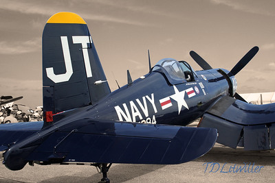 Chance Vought F4U-4 Corsair @ Sun n Fun airshow 2013