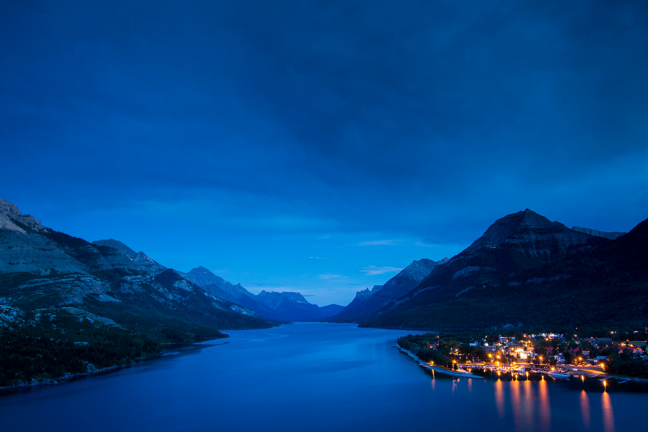 Sunset at Waterton Lake