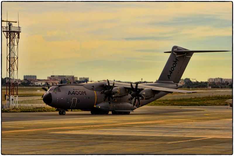 A400M Taxi's For Takeoff in Toulouse