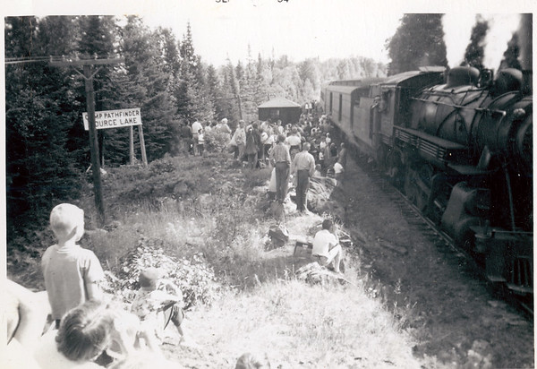 From 1914, steam trains provided the only access.