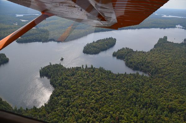 Aerial view of Pathfinder Island