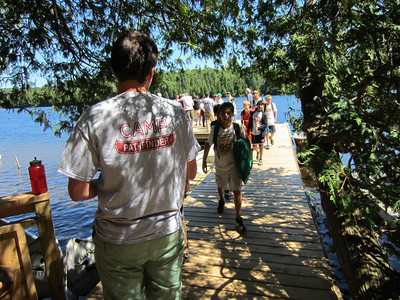 Arrival days start with a personal welcome right at the dock by a boy's own counselor