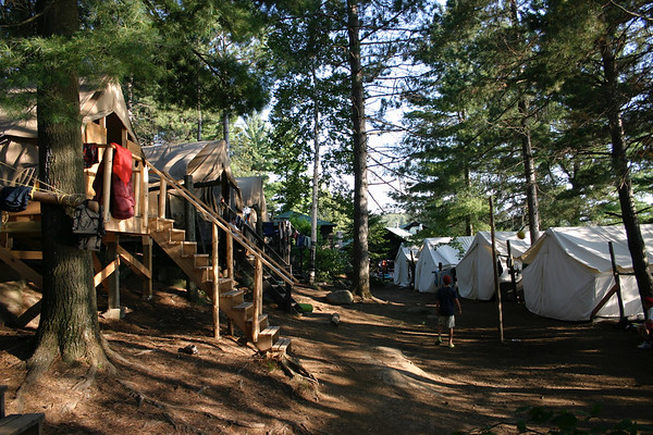 Cree Row, tents where Cree campers stay for the summer