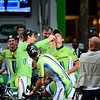 Peter Sagan (pouring after race)<br /> Cannondale riders