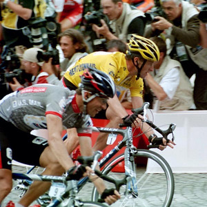 Stage 20 - Champs Elysees - Lance Armstrong and Jose Luis Rubiera