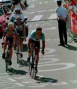 Stage 8 - L'Alpe d'Huez - Ullrich  Caucchioli and Moreau