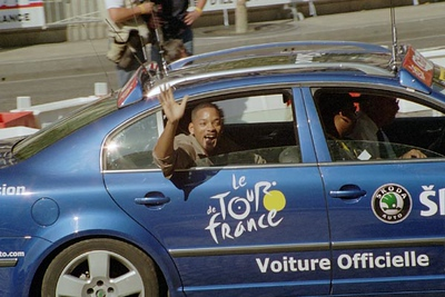 Stage 20 - Champs-Elysees Paris - Actor Will Smith enjoys the race