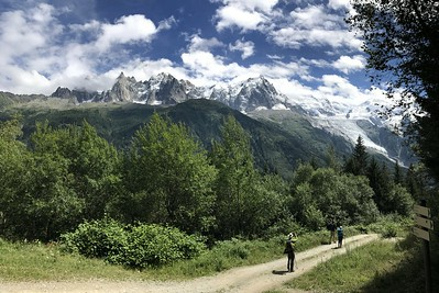 Day 1: Hiked on the Grand Balcon with views of the Mont Blanc massif
