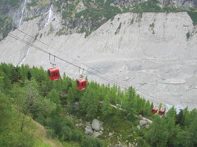 Gondola down to the glacier