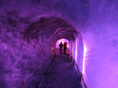 Glowing tunnel in the Ice Cave