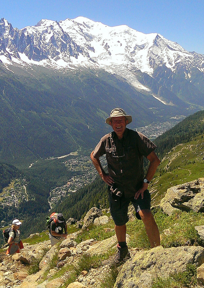 Yours truly  at Tête aux Vents in front of Mont Blanc