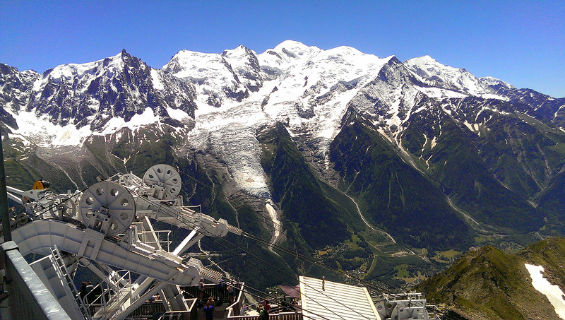 Mont Blanc looking quite close across the valley