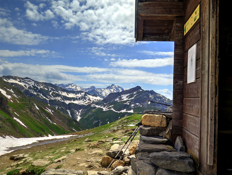 The shelter at the Col du Bonhomme (2329m)